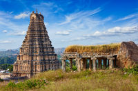 Virupaksha Temple. Hampi, Karnataka, India