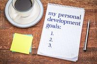 My personal development goals list