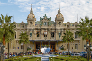 People Gathering in Front of the World Famous Casino of Monte Carlo in Monaco