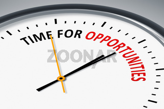 clock with text time for opportunities