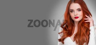 Gorgeous redhead model girl