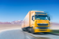 truck motion blur on plateau