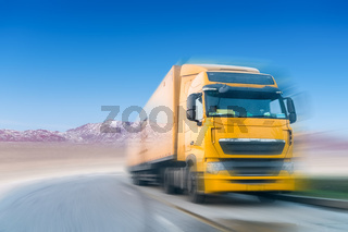 truck motion blur on plateau