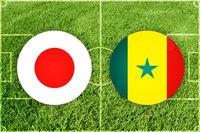Japan vs Senegal football match