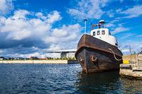 Schiff in der Stadt Kopenhagen, Dänemark