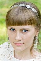 Portrait bride with diadem