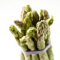 Asparagus bunch isolated