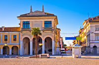 Town of Palmanova colorful street view