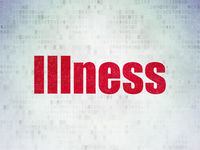 Health concept: Illness on Digital Data Paper background