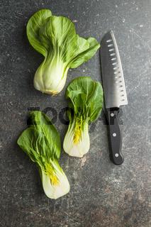 Fresh pak choi cabbage.
