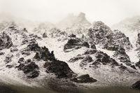 Mountain Storm Above Treeline Alaska Winter