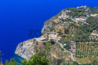 Sea coast view (Calabria, Italy).