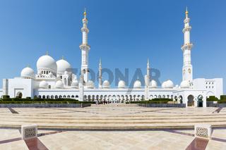 Scheich Zayed Große Moschee Abu Dhabi Sheikh Minarette Vereinigte Arabische Emirate