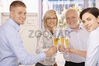 Happy businessteam celebrating
