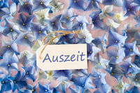 Hydrangea Flat Lay, Auszeit Means Downtime