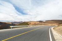 empty asphalt road on plateau
