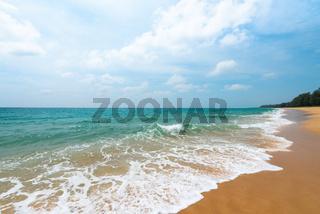 Idylic tropical sandy beach seascape
