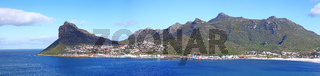 Panorama Blick auf Hout Bay, Südafrika, view on Hout Bay, South Africa