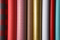 Closeup of Wrapping Paper Rolls