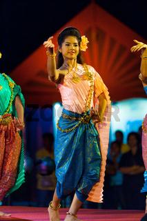 Thai Female Traditional Dancing Beauty