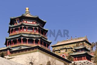 China Beijing Summer Palace Pagodas
