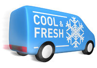 Lieferwagen cool & fresh