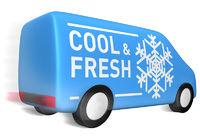 Lieferwagen cool & fresh