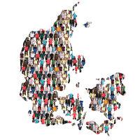 Dänemark Karte Leute Menschen People Gruppe Menschengruppe multikulturell