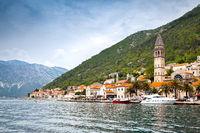Perast town in Montenegro