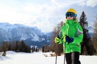 Mädchen beim Skisport