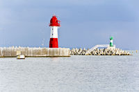 View from embankment to lighthouse