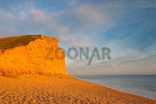 Popular beach near Bridport, Dorset, England,