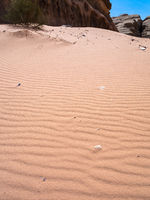 red sand dune in Wadi Rum desert