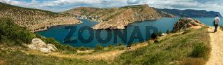 Balaklava is popular Crimean resort. Bay former submarine base.
