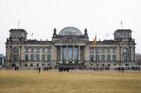 Bundestag german federal parliament building in Berlin Germany