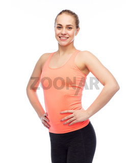 happy smiling sportive young woman