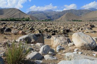 Findlinge bei Tscholponata am Transili-Alatau-Gebirge, Krigisistan
