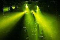 Rock concert crowd