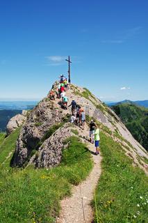 Auf dem Weg zum Gipfel des Rindalphorn