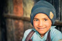 Big-eyed boy in Nepal