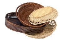 Asian wattled kitchen baskets