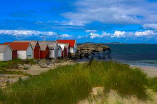 Norwegian beach on a sunny day