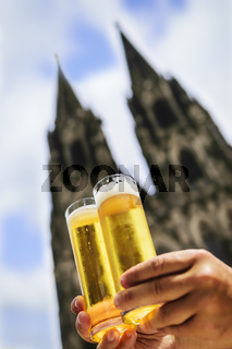 Two glasses of Koelsch beer
