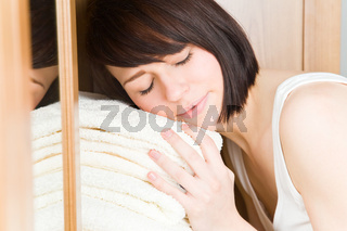 Mit Handtüchern kuscheln