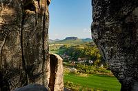 rocky countryside in saxony