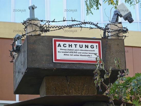 Protest gegen Video-Ueberwachung in Jena
