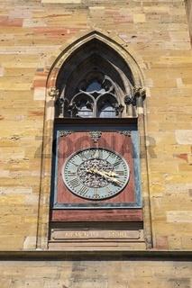 Colmar, Ziffernblatt der Stiftskirche Sankt-Martin auch Martinsmünster