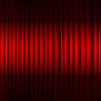 Red Stage Curtain With Black Border