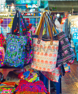 Thailand souvenir night market overview