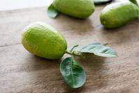 Pesticide free organic green lemons